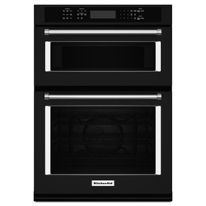 """27"""" Combination Wall Oven with Even-Heat True Convection (lower oven) Black"""
