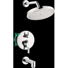 Chrome Pressure Balance Tub/Shower Set with Rough, 2.0 GPM