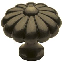 View Product - Satin Brass and Black Melon Knob