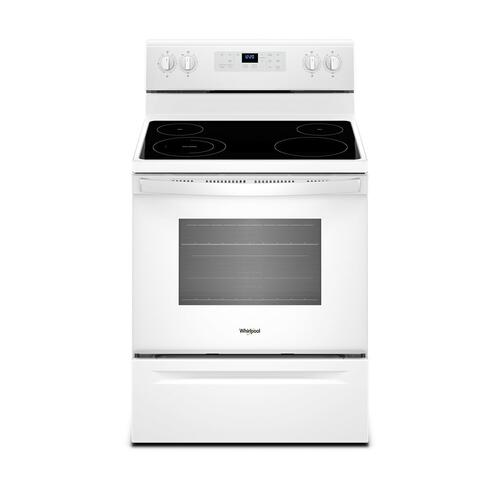 Whirlpool - 5.3 cu. ft. Freestanding Electric Range with Adjustable Self-Cleaning White