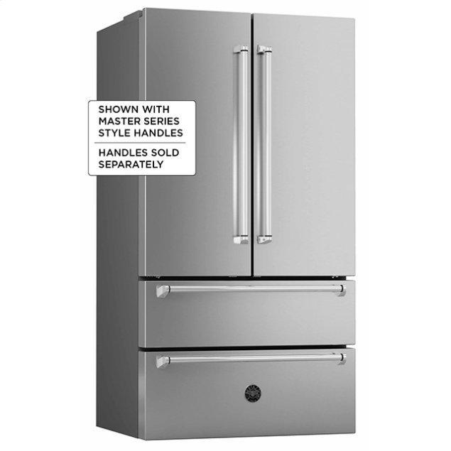 """Bertazzoni 36"""" French door refrigerator - Freestanding - Stainless"""