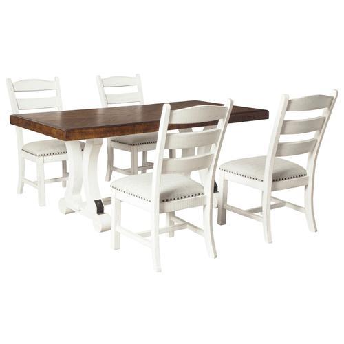 Signature Design By Ashley - Valebeck Rectangular Dining Room Table Multi