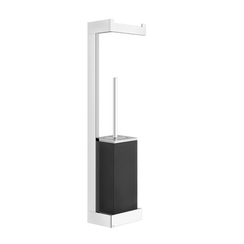 Gessi - Wall-mounted column with tissue holder and toilet brush holder - black