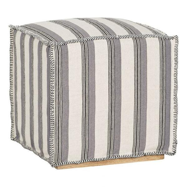 See Details - Muslin Ottoman Slipcover