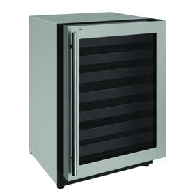 """2224wc 24"""" Wine Refrigerator With Stainless Frame Finish and Right-hand Hinge Door Swing (115 V/60 Hz Volts /60 Hz Hz)"""