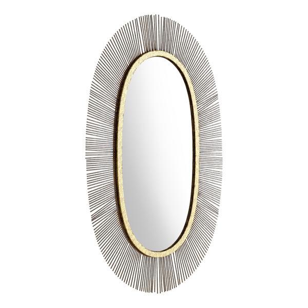 See Details - Juju Oval Mirror Black & Gold
