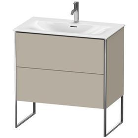 Vanity Unit Floorstanding, Taupe Satin Matte (lacquer)