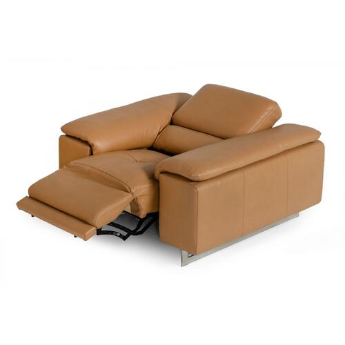 VIG Furniture - Estro Salotti Blossom Modern Cognac Leather Recliner