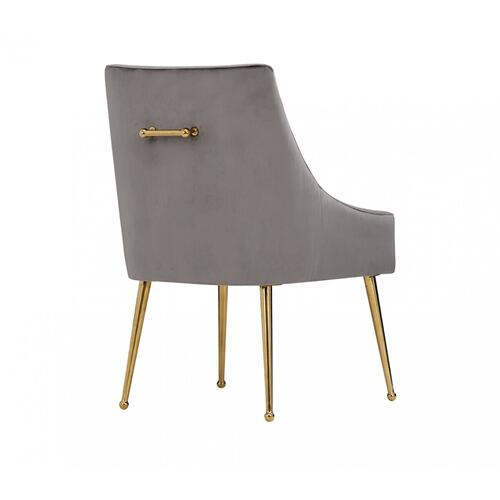 VIG Furniture - Modrest Castana Modern Grey Velvet & Gold Dining Chair (Set of 2)