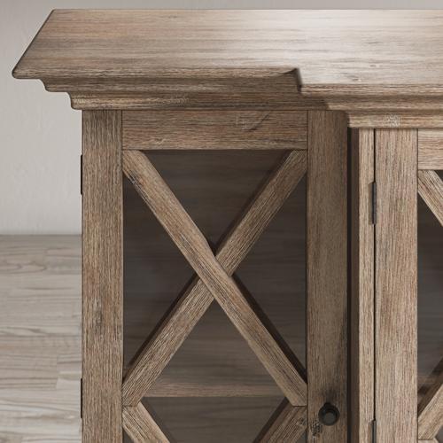 Jofran - Carrington Small Breakfront Cabinet - Bisque