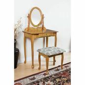 ACME Queen Anne Vanity Set - 02337OAK - Oak