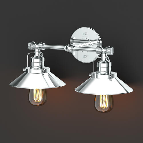 Modern Farmhouse Retro Lighting Sconces in Chrome