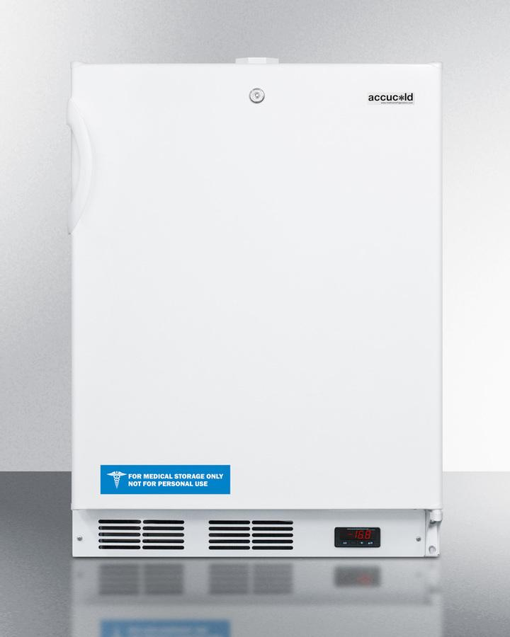 SummitBuilt-In Undercounter Frost-Free All-Freezer For General Purpose Use, With White Exterior, Digital Thermostat, And Lock
