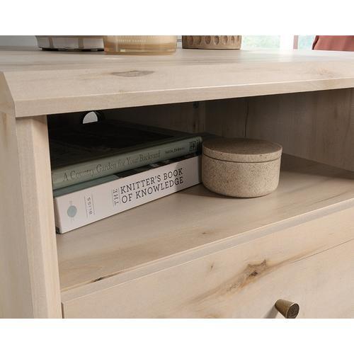 1-Drawer Night Stand with Open Shelf Storage