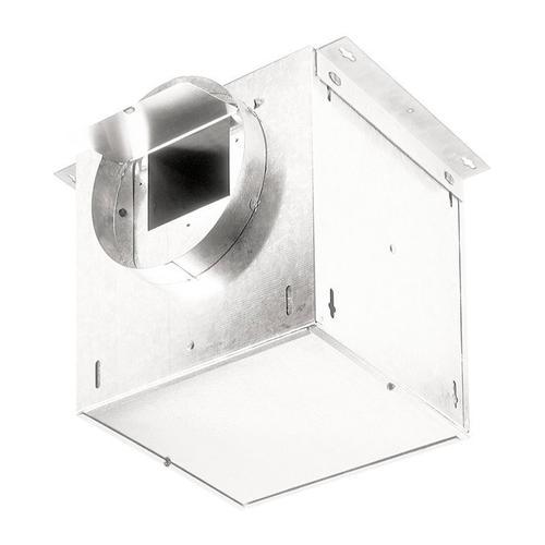 "Ventilator; 293 CFM Straight Through, 3.7 Sones; 283 CFM Right Angle, 2.4 Sones. 8"" rd. duct connectors. 120V"