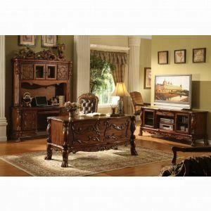 ACME Dresden Executive Desk - 12169 - Cherry Oak