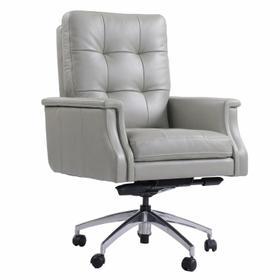 DC#128 Verona Grey - DESK CHAIR Leather Desk Chair
