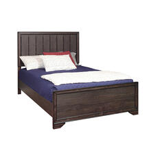 Kids Full Panel Bed Footboard and Slats in Espresso Brown