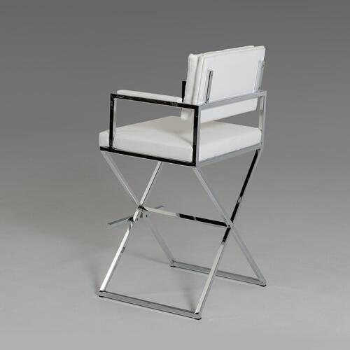 VIG Furniture - Modrest Coppola Modern White Leatherette Bar Stool