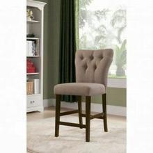 ACME Effie Counter Height Chair (Set-2) - 71526 - Light Brown Linen & Walnut