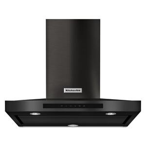 """30"""" Wall-Mount, 3-Speed Canopy Hood Black Stainless Steel with PrintShield™ Finish Product Image"""