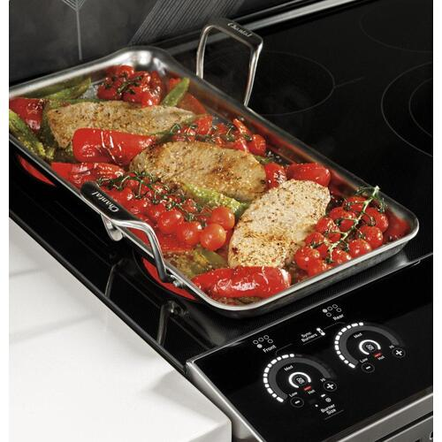 "GE Profile™ 30"" Smart Slide-In Front-Control Induction Fingerprint Resistant Range with In Oven Camera"