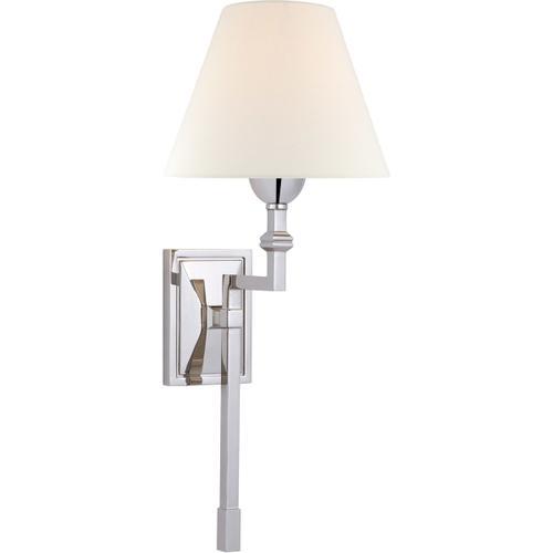 Alexa Hampton Jane 1 Light 8 inch Polished Nickel Single Tail Sconce Wall Light, Medium