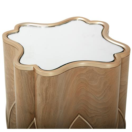Cherie Chairside Table Caramel