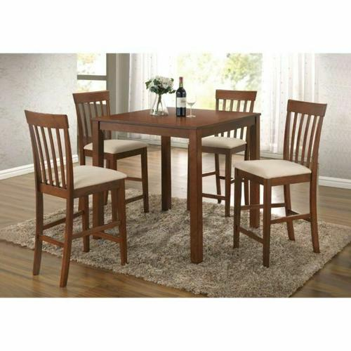 ACME Miranda 5Pc Pack Counter Height Set - 07314 - Cherry Oak
