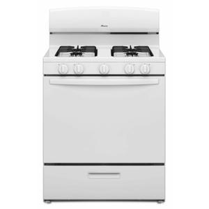 Amana30-inch Gas Range with EasyAccess Broiler Door - White