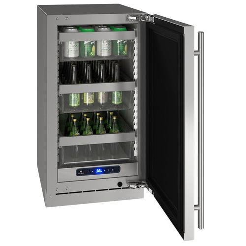 "U-Line - Hre518 18"" Refrigerator With Stainless Solid Finish (115 V/60 Hz Volts /60 Hz Hz)"