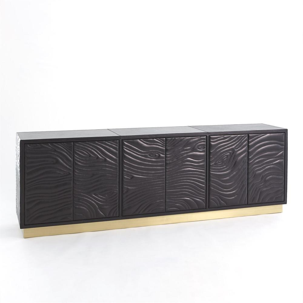 See Details - Forest Long Cabinet-Charcoal Leather
