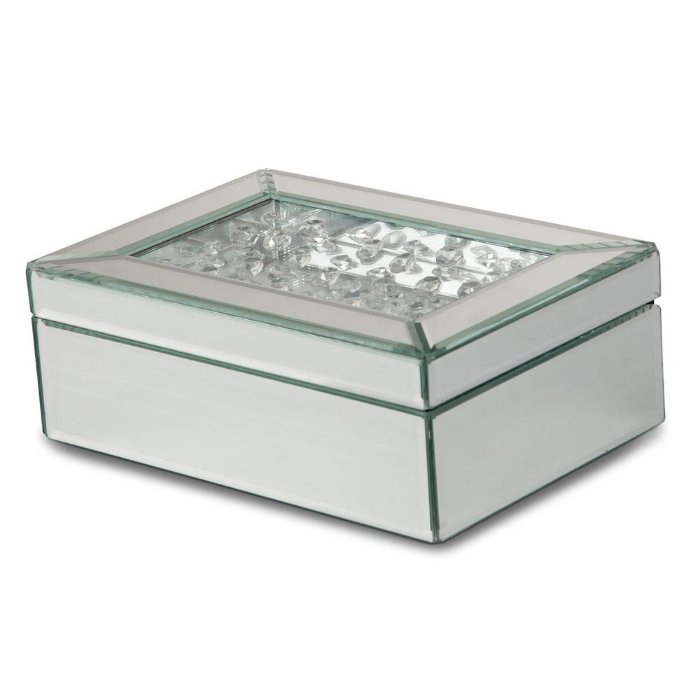 See Details - Mirrored/crystal Jewelry Box (4/pack)
