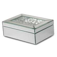 Mirrored/crystal Jewelry Box (4/pack)