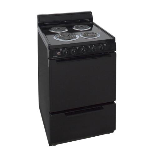 Premier - 24 in. Freestanding Electric Range in Black