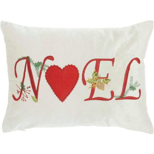 """Home for the Holiday L1776 Beige 12"""" X 16"""" Throw Pillow"""