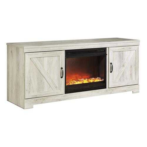 Bellaby LG TV Stand W/Fireplace Insert Whitewash