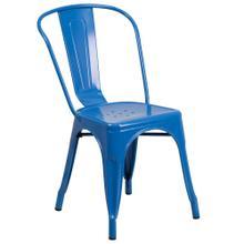 See Details - Blue Metal Indoor-Outdoor Stackable Chair