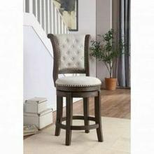 ACME Glison Bar Chair (1Pc) - 96457 - Beige Fabric & Walnut