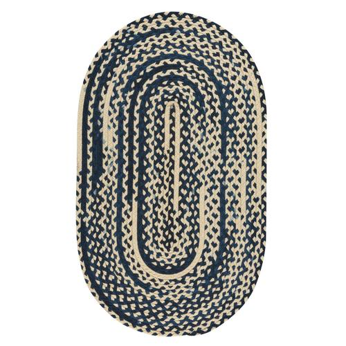 LM-Navy Classic Wool Braid Navy Braided Rugs
