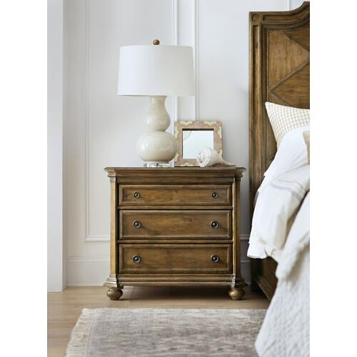 Bedroom Ballantyne Three-Drawer Nightstand
