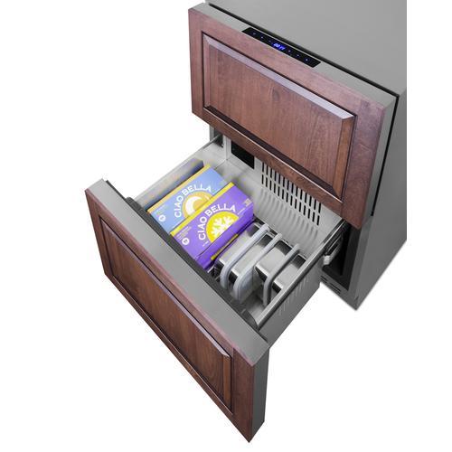 """Summit - 24"""" Wide 2-drawer Refrigerator-freezer"""