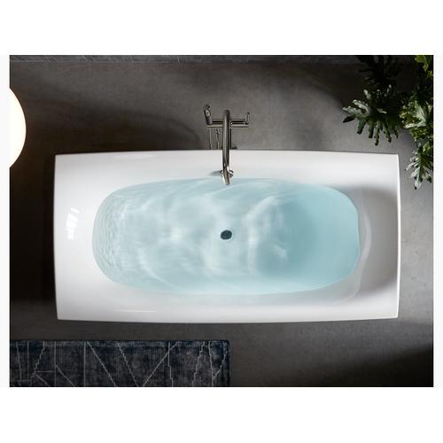 "White 72"" X 36"" Freestanding Bath and Center Drain"