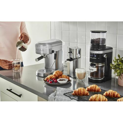 KitchenAid Canada - Metal Semi-Automatic Espresso Machine and Automatic Milk Frother Attachment Bundle - Brushed Stainless Steel