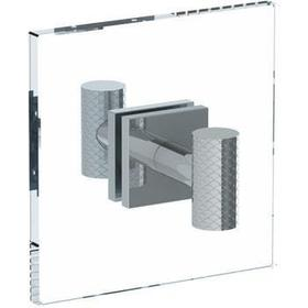 Lily Double Shower Door Knob/ Glass Mount Hook