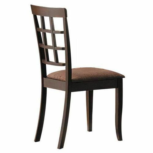 ACME Cardiff Side Chair (Set-2) - 06851 - Espresso & Dark Brown Microfiber