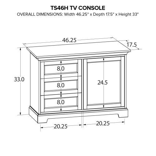 TS46H Custom TV Console