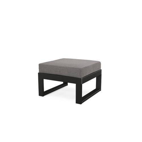 Black & Grey Mist Modular Ottoman
