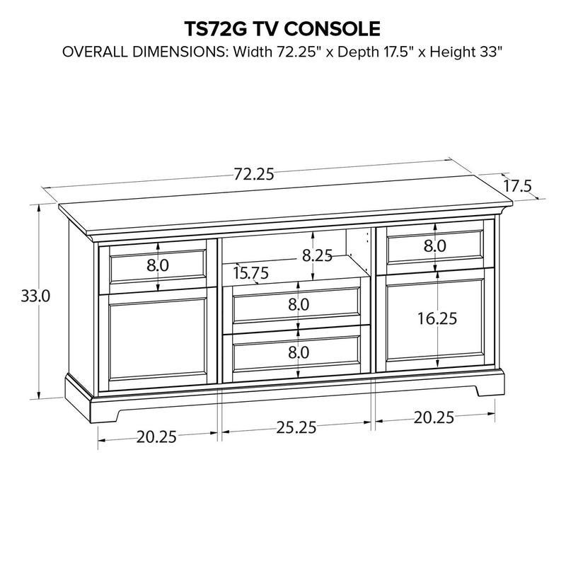 TS72G Custom TV Console