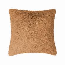 Fun Fur Long Hair Cushion - Camel
